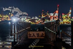HDR工場夜景 日本製鉄 立入禁止