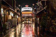 夜雨の参道