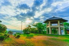 津山の町を一望