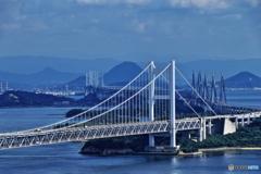 讃岐富士×瀬戸大橋