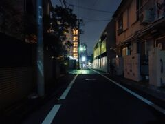 住宅街の夜