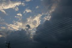 威圧感のある黒い雲