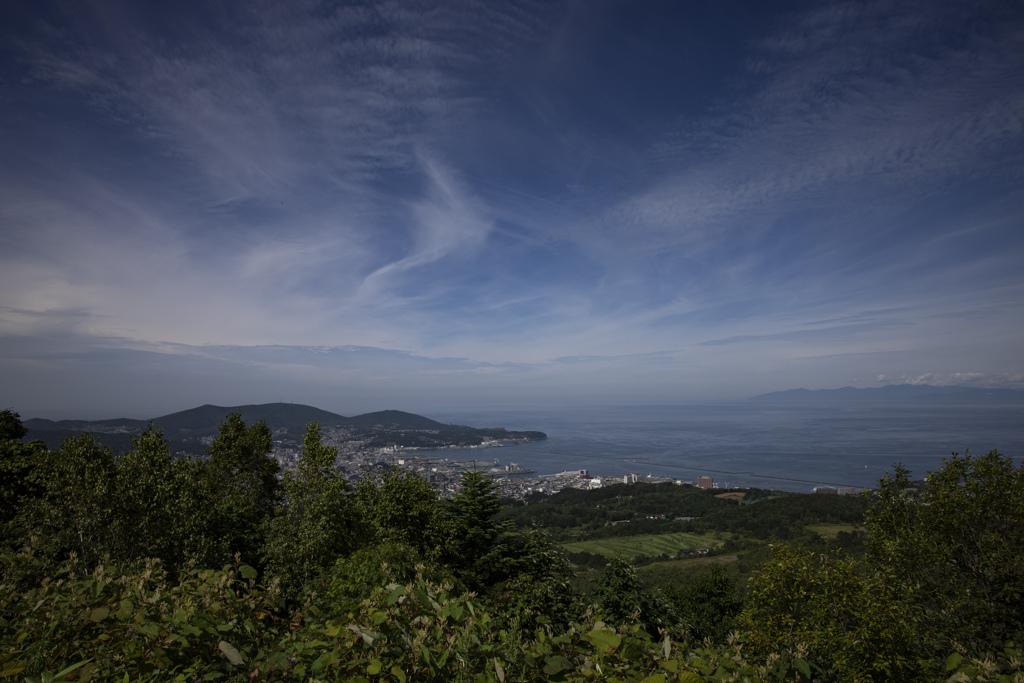 山から見る小樽市内