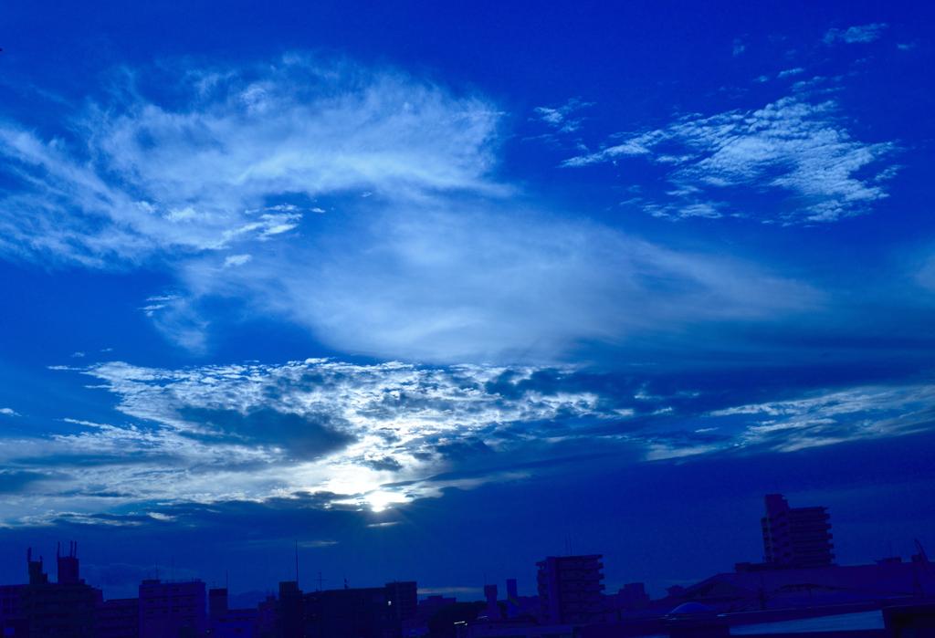 福岡の朝日
