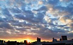 真冬の日の出