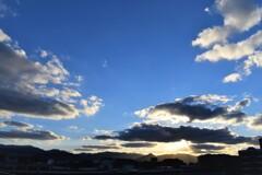 福岡の日の入