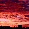 真っ赤な空雲