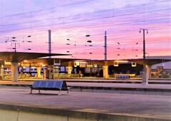 カンパニャン駅の朝焼け