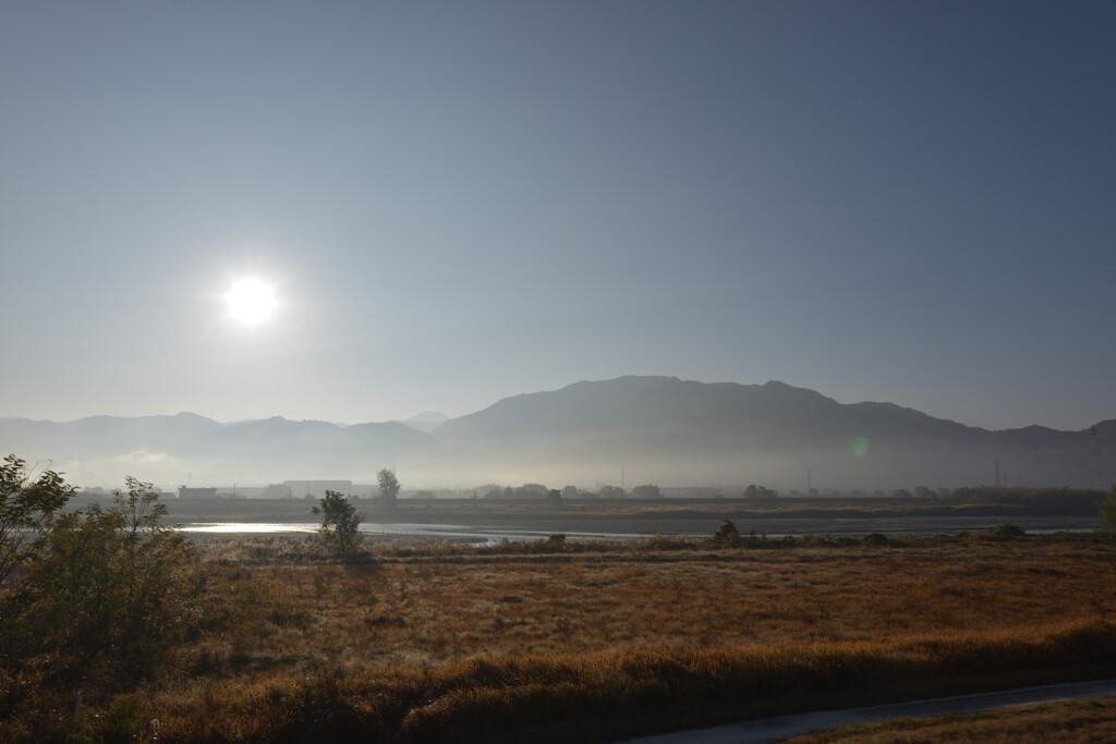 甲州・富士川沿いの朝2