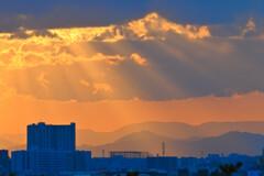 多摩川台公園より神奈川丹沢・箱根方面を望む