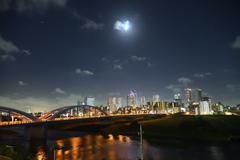 多摩川夜景2
