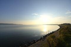 汽水湖の朝2020秋2