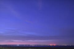 夜明け前の城南島海浜公園
