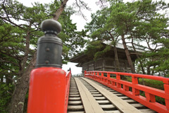 透橋から望む瑞巌寺五大堂