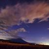 双子座流星群と富士山