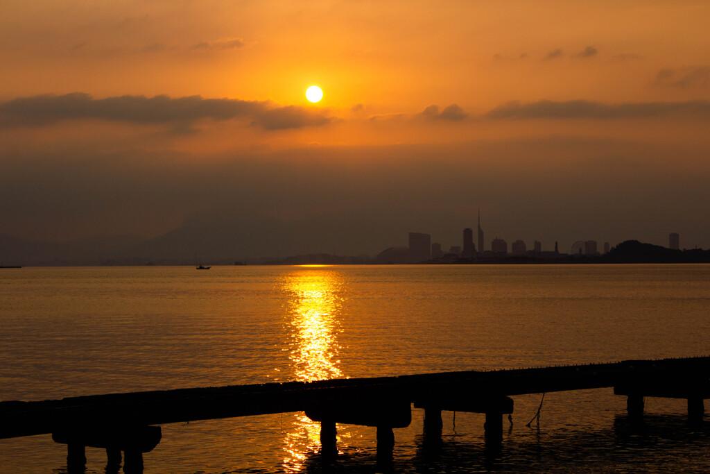 今津海岸からの朝日1