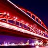 神戸大橋と神戸の夜景