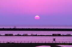 洋上の落日