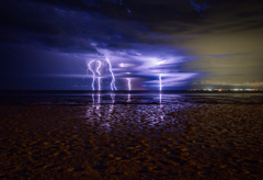 Lightning Over Godwin Beach