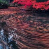紅彩の流れ渦