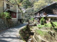 昭和の雰囲気が残る散歩道