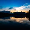 千丈寺湖 日の出