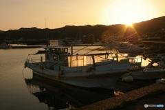 夕焼け② 漁船