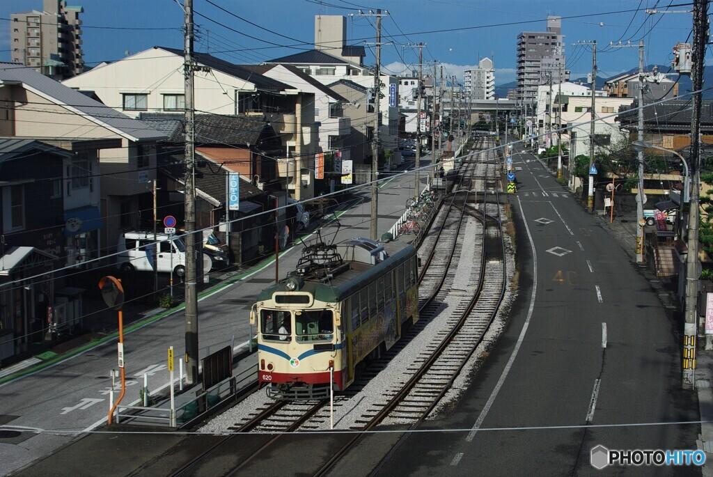 電車の走る町