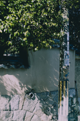 電柱と土壁