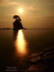雨晴海岸・夜明け