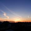 冬空と飛行機雲
