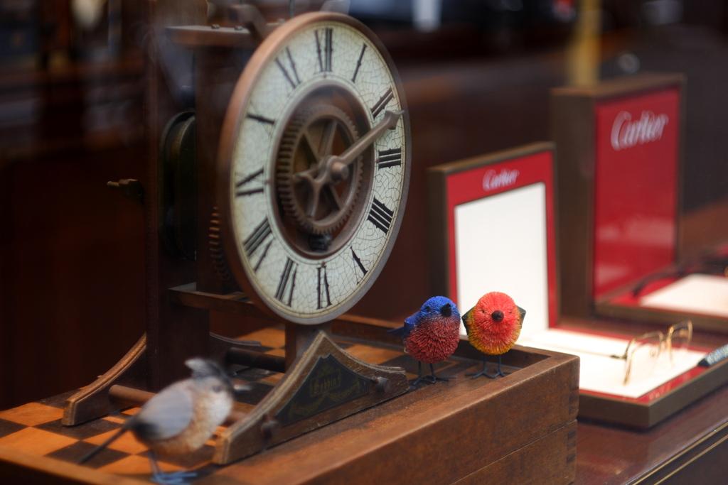 小鳥と時計