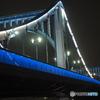 医療関係者等応援ライトアップの清洲橋