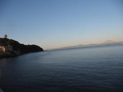 江ノ島からの朝富士