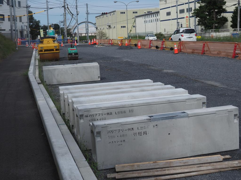 宇都宮LRT・芳賀町内の工事現場