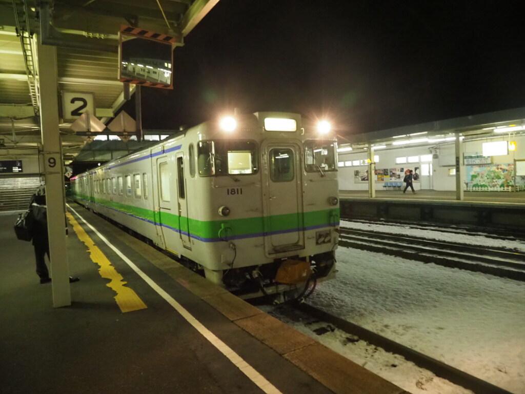 室蘭線追分駅