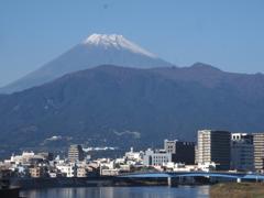 沼津から富士山