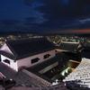夜の松山城天守 最上階からの眺め
