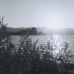 二眼で写すびわ湖