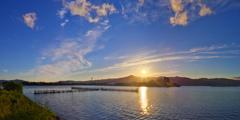 びわ湖夕景2