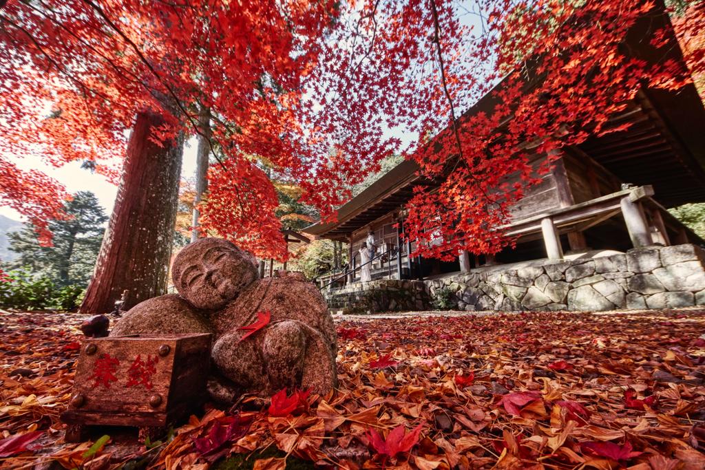 安泰山大國寺の紅葉