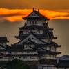 夜明けの白鷺城