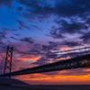 明石海峡大橋「夕暮れ」