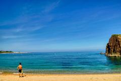 夏、海、日焼け