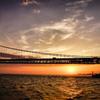 明石海峡 夕景
