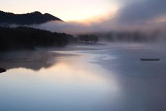 千丈寺湖の冬