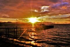 観光船桟橋の朝 4