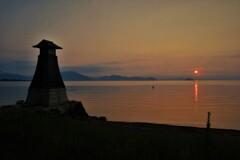 淡海常夜灯の朝景 5
