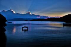 Lake Biwa evening view