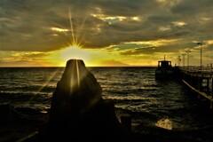 観光船桟橋の朝 5